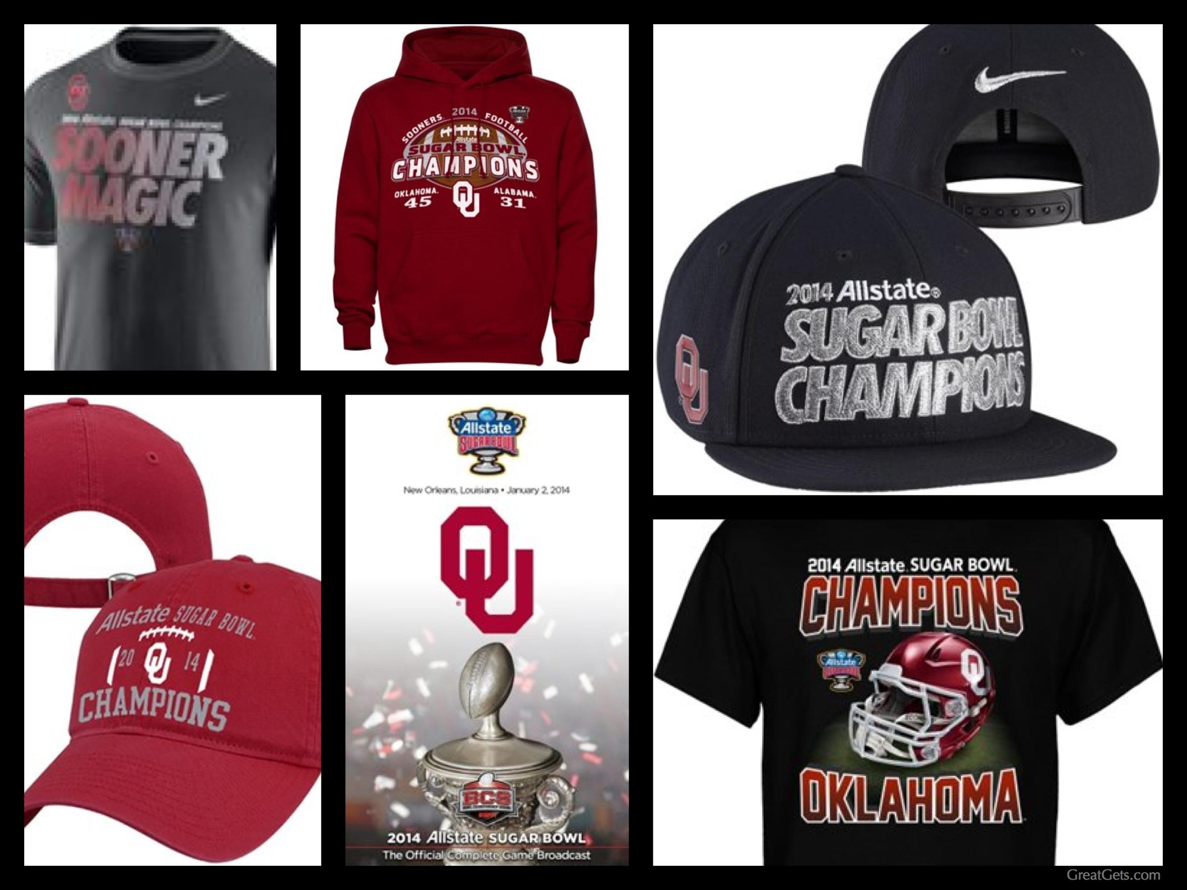 Oklahoma Sooners 2014 Sugar Bowl Championship Gear