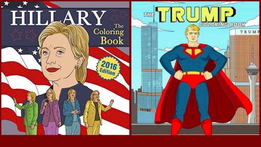 Trump Clinton 2016 Presidential Candidate Coloring Books